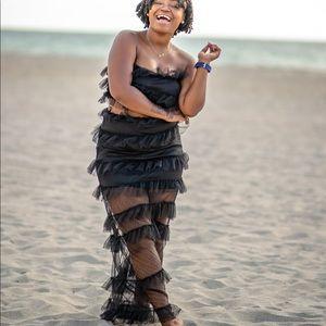Dresses & Skirts - Black Beach Skirt Set